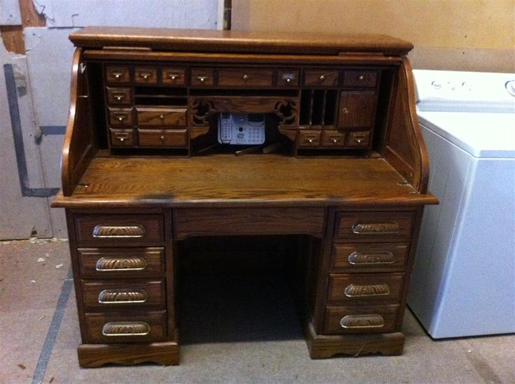 Oak Roll Top Desk Oak Creek By Riverside Auction Items