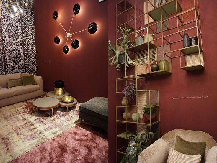 kolory wina w modnie urządzonych wnętrzach