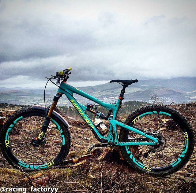LOVE the color - Santa Cruz Nomad with FOX suspension and Enve parts