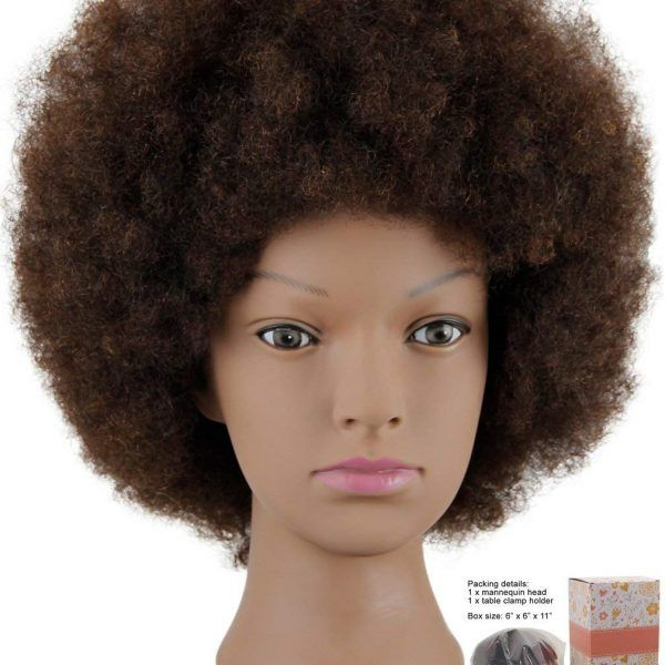 Mannequin Head African American With 100 Human Hair Cosmetology Afro Hair Manikin Head For Practice Styling Braiding Afro Hairstyles Hair Mannequin Afrocentric Hairstyles