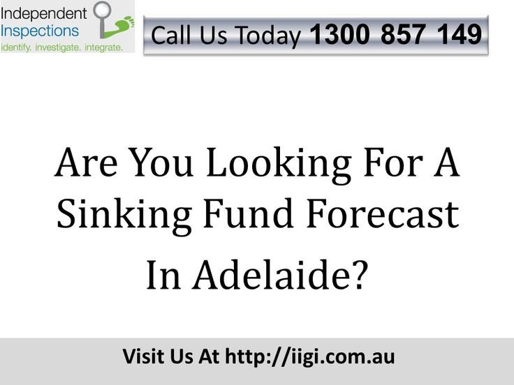Are You Looking For A Sinking Fund Forecast In Adelaide? http://iigi.com.au/services/strata-services/sinking-funds-maintenance/