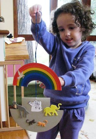 The story of Noah and his Ark is a perennial favourite, and this is a fun craft activity for children to go with the story. To make it, you'll need to cut cardboard for the basic shape. (I made a t...
