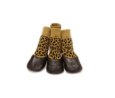 Non-slip Waterproof Adjustable Stretchy Dog Boot Pet Shoes, Leopard(5#)