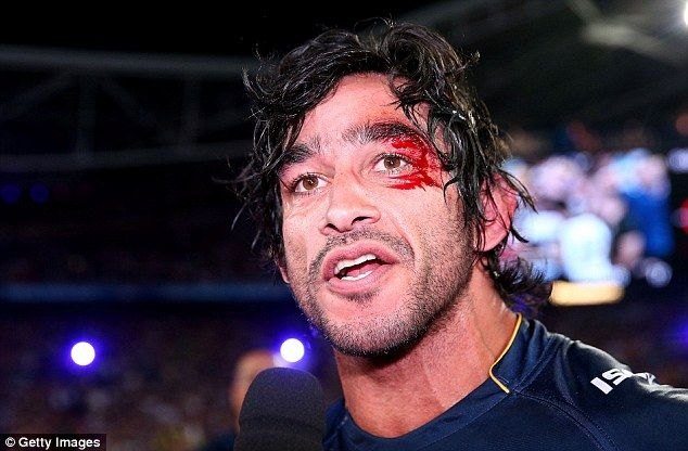 Johnathan Thurston's on-field bodyguard caused the massive cut to his head just seconds after North Queensland won the NRL Grand Final