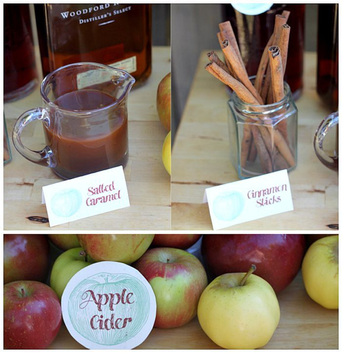 Wow your guests at a fall bachelorette party with an adorable DIY Apple Cider Bar!