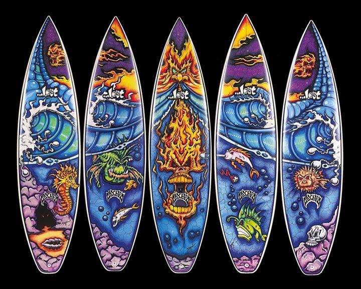 Best Surfboard And Driftwood Art Images On Pinterest - Artist paints incredible seaside murals balanced on surfboard