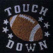 Football Iron on Rhinestone Transfer - rhinestone shirt on Etsy, $10.00