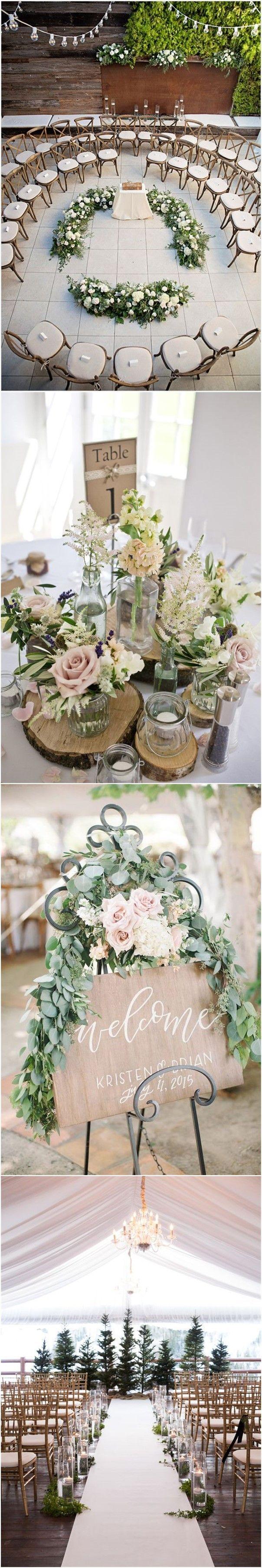 Green Wedding | Rustic Wedding Country Weddings » 25 Rustic Outdoor Wedding Ceremony Decorations Ideas » ❤️ See more: http://www.weddinginclude.com/2017/06/rustic-outdoor-wedding-ceremony-decorations-ideas/