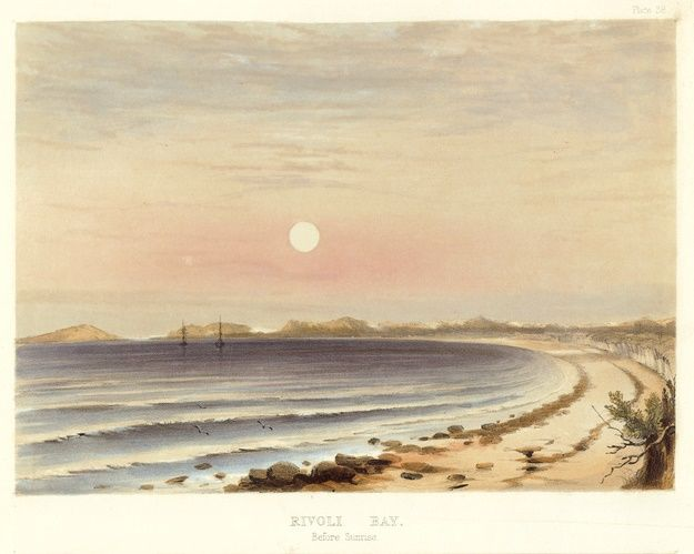 Rivoli Bay Before Sunrise April/May 1844 South Australia