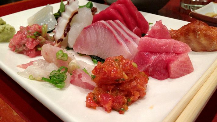 Sashimi lunch special at Sushi Gen // Discover L.A.'s Best Sushi Deals