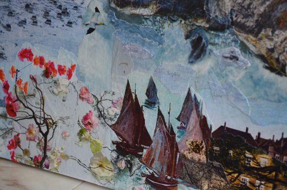 Detail van collage voor Liesbeth - 2014 - Linda Verkerk