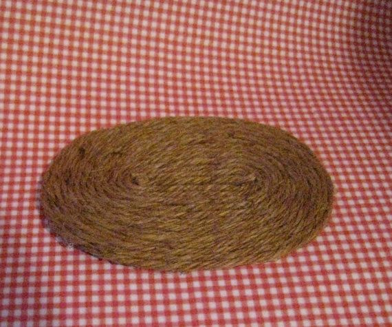 A small braided style sisal rug, measures 2 1/2 X 4 . A nice country accessory. I adjust postage for multiple purchases.
