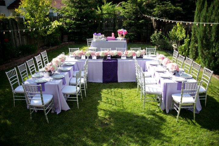 Images of small backyard weddings beautiful yard shower for Small wedding reception decorations