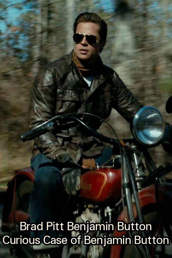 Brad Pitt Curious Case Of Benjamin Button Biker Leather Jacket Brad Pitt Curious Case Of Benjamin Button Brad Pitt Benjamin Button