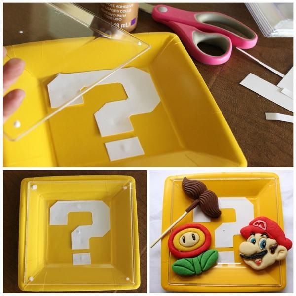 Mario Question Block Party Plates