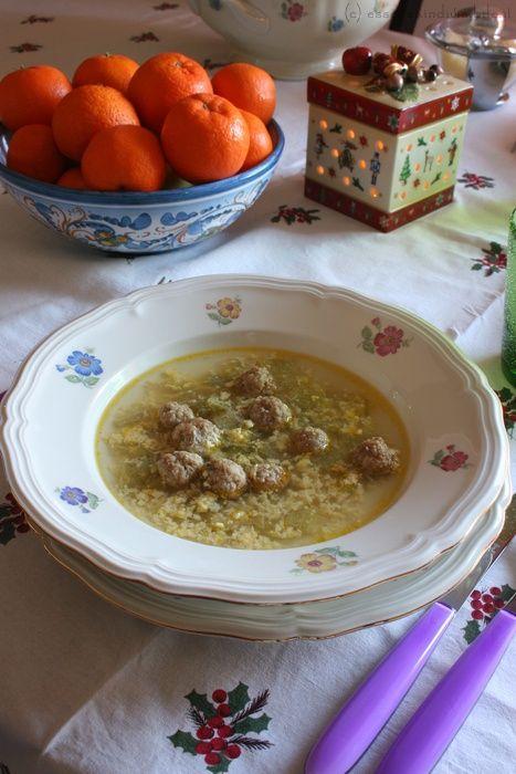 brodo col cardone (piatto tipico abruzzese natalzio)