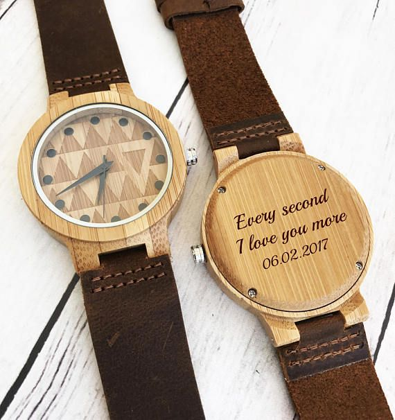 Wooden Watch Personalized Wood Watches for Men Leather Watch
