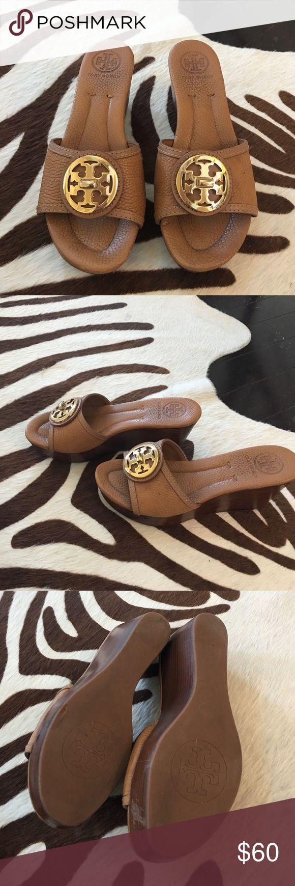 Neutral wedges Neutral Tori Burch wedges. Normal wear. Tory Burch Shoes Wedges