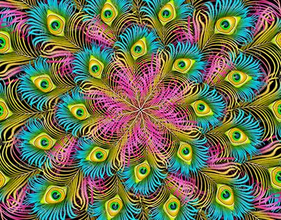 """Check out new work on my @Behance portfolio: """"Colorful feathers scarf"""" http://be.net/gallery/59009881/Colorful-feathers-scarf"""