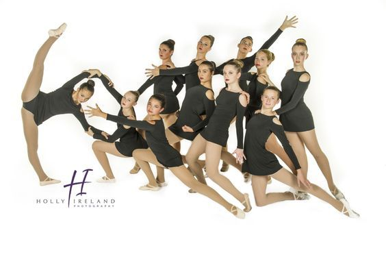 large group poses for dance recital photo day dance photographer and photography