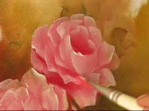 Pintando Rosas - Parte 2 - Óleo sobre tela por Shirley Sbeghen