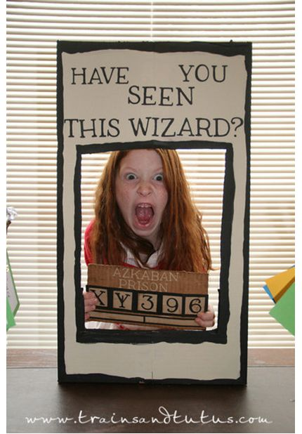 Let your kiddos do their best Sirius Black impression in this photo booth.