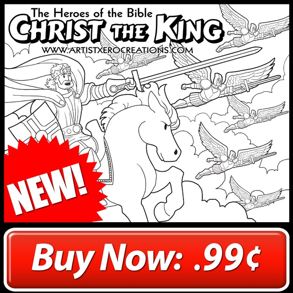 The Heroes Of The Bible Coloring Pages Christ The King 1