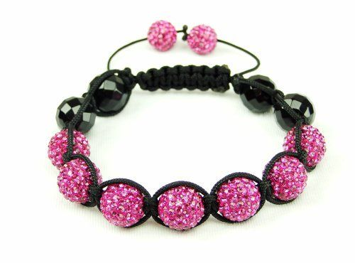 Pink Band shamballa bracelet | pink crystal bangle | women's shamballa inspired bracelet | onyx bangle bracelet (by BAGATI CRYSTO) BAGATI CRYSTO. Save 41 Off!. $49.97. 23 grams in weight. Lavish handmade Pink Pave Cut Crystals (cut by BAGATI CRYSTO). Seven 12mm Pink Crystal pave beads + Two 10mm Pink Crystal pave beads + Four Black Onyx faceted rounds. Exquisite level of superiority in our Crystal quality and appearance. Adjustable Nylon string shamballa bracelet pattern for a very durable…