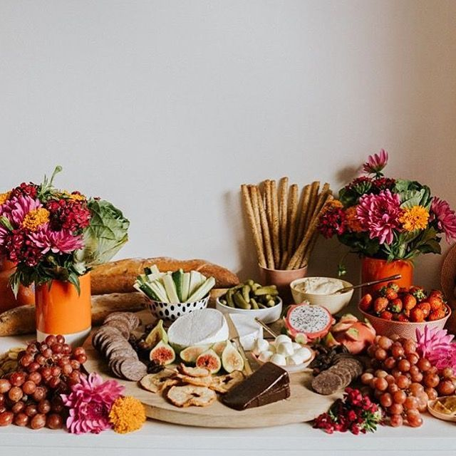 Pretty in pink grazing table from Natural SkinCare Workshop
