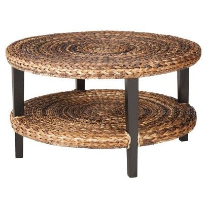 Use home depot diy rope techniquee to create this coffee for Round rope coffee table