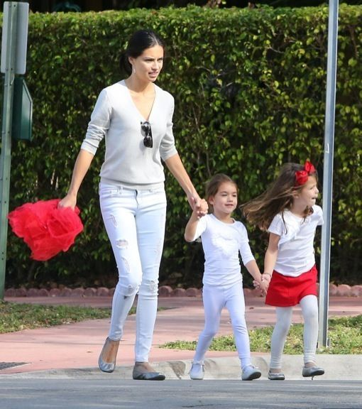 Adriana Lima & Marko Jaric Attend Their Daughter's Christmas Play