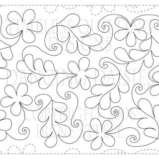 Dancing Daisies/Timeless Quilting Scraps of Life: Pantograph Patterns