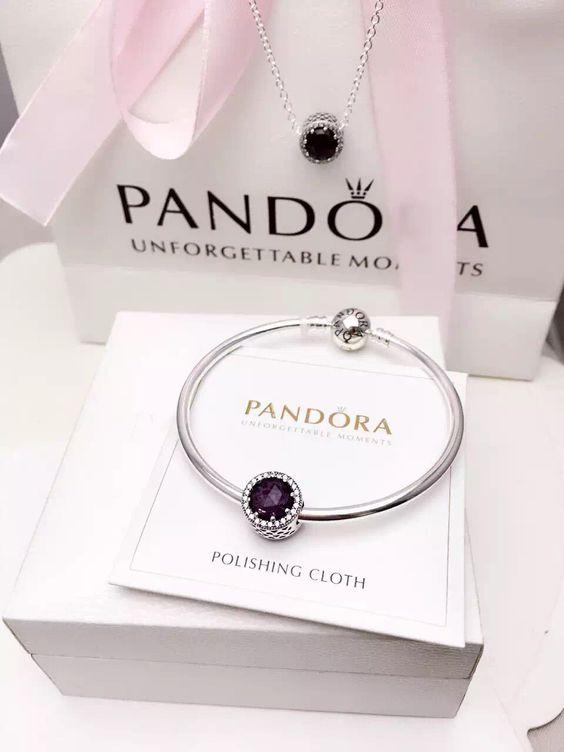 50% OFF!!! $79 Pandora Bangle Charm Bracelet Black. Hot Sale!!! SKU: CB02069…