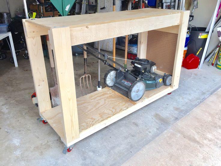 Garage Organization Ideas Lawn Mower