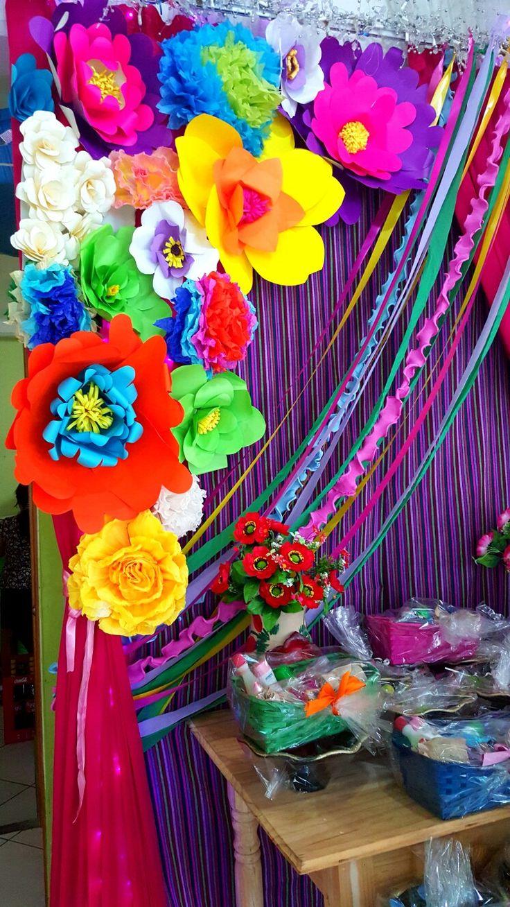 Fiesta despedida de soltera mexicana fiesta tematica - Como hacer adornos para fiestas ...