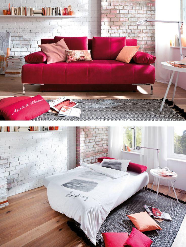 nachtlager verwandeln mit praktischem bettkasten couch moebelletz. Black Bedroom Furniture Sets. Home Design Ideas
