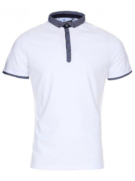 Twisted Soul Mens White Smart Short Sleeve Polo Shirt