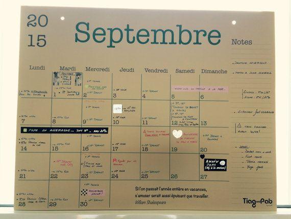 Les 25 meilleures id es de la cat gorie calendrier 2015 - Grand calendrier mural ...