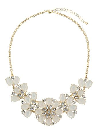 Sparkle Stone Flower Necklace