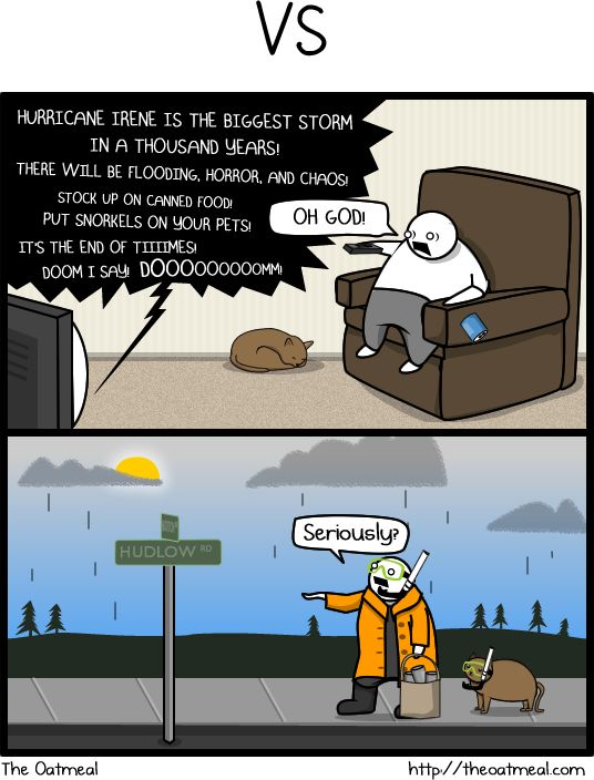 How to tell if the weather is going to be a really big deal - The Oatmeal