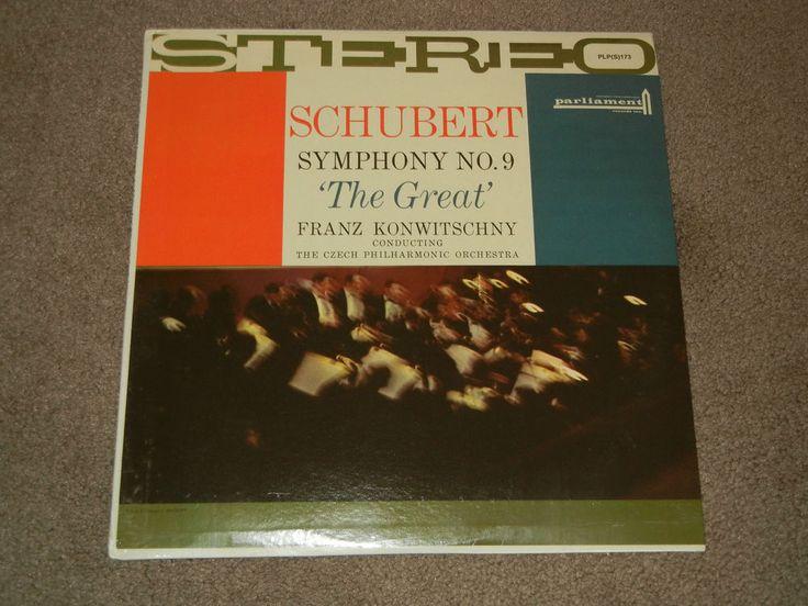 SCHUBERT: Symphony No 9: KONWITSCHNY (LP, MUSIC, Classical, Record, Vinyl)  #Orchestra