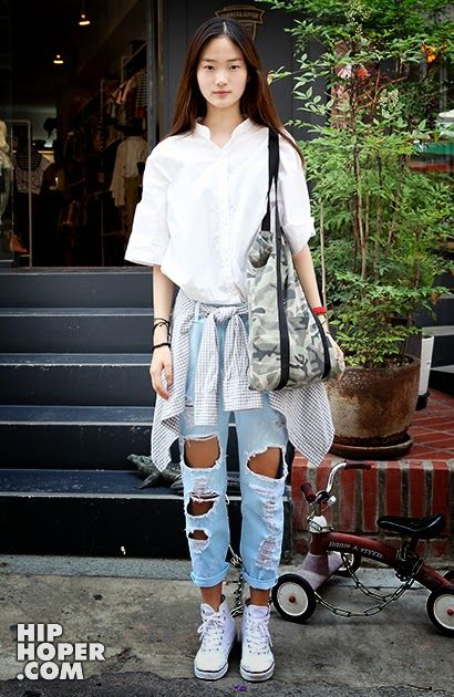 Korean Street Fashion   June 2014