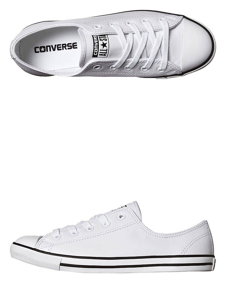 converse leather trainers ladies