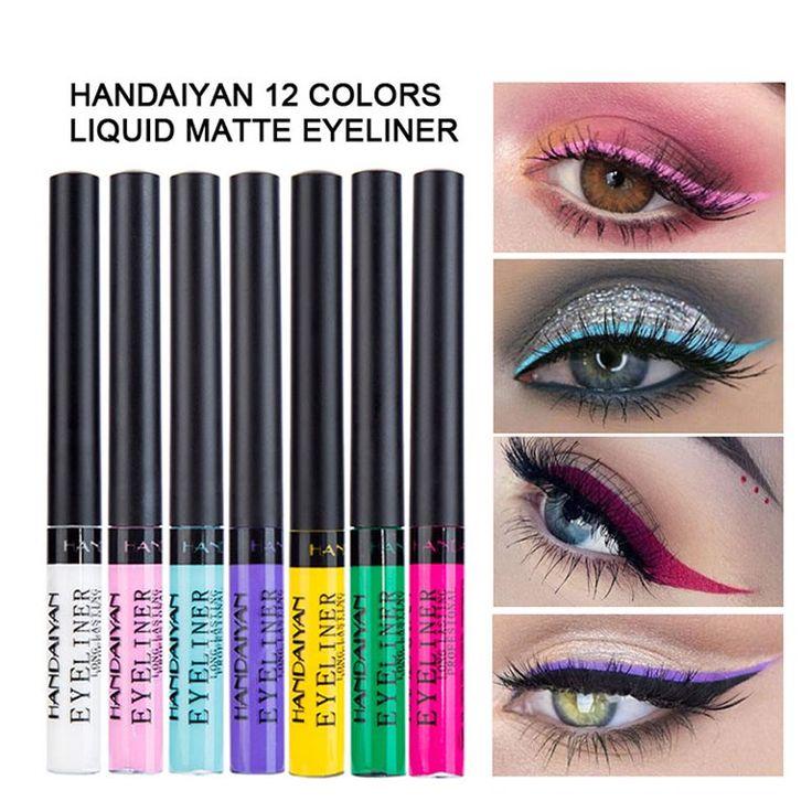 Matte Colorful Liquid Eyeliner,12 Colors Long Lasting
