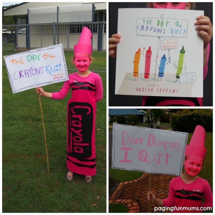 'The Day the Crayons Quit' Costume idea for Book Week or Halloween!