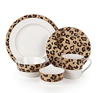 """Lauren by Ralph Lauren """"Safari Leopard"""" Dinnerware"""