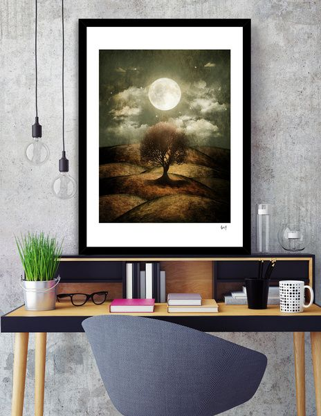 Discover «Once upon a time... The lone tree.», Numbered Edition Fine Art Print…