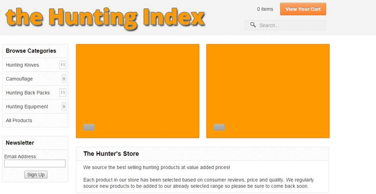 Dedicated to the lover of outdoor life, the hunting Index offers value added hunting equipment and merchandise at discounted prices. http://huntingindex.com/