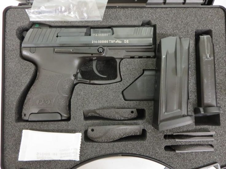 Used H&K P30SK 9mm w/ night sights, 2 extra magazines and case $595 - http://www.gungrove.com/used-hk-p30sk-9mm-w-night-sights-2-extra-magazines-and-case-595/