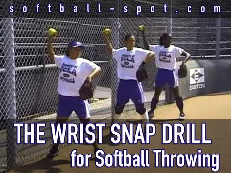 "We break down a ""Wrist Snap Drill"" that can help you to make sure that the fielders are in the proper launching position when they're throwing the softball."
